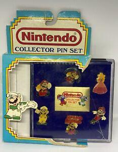 RARE 1989 Nintendo Collector Super Mario Pin Set of 6 (Princess Mario )