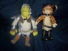 """Dreamworks 14"""" Plush Shrek Knight & Puss & Boots- Bin K"""