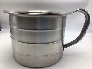 Vollrath Measuring Cup 4 Qt Stainless Steel Vintage 79540 Handle Rings Pot USA