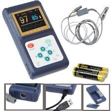 US Seller Veterinary pulse oximeter Handheld SPO2 Pr monitor Vet Tongue Probe+SW