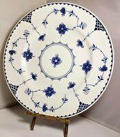 """Churchill England Blue Denmark Blue & White 1 Dinner plate 10"""" finlandia"""
