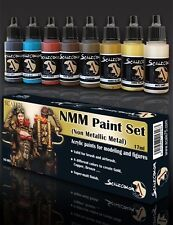 Scale 75 Gold Non Metallic Metal Colours Acrylic Paint Set 8 Bottles