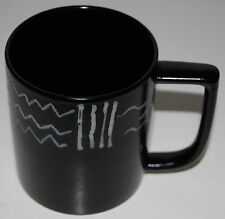"Mikasa Star Track Cup Mug Black Inside 3 7/8"" Fashion Plate CP006"