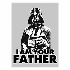 STAR WARS I AM YOUR FATHER Kitchen Fridge Magnet Top Quality Tin Plate Retro