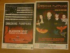 Smashing Pumpkins Scottish tour Glasgow concert gig posters x 2