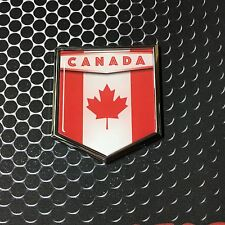 "Canada Flag Domed CHROME Emblem Flag Car 3D Sticker 2""x 2.25"" Decal"