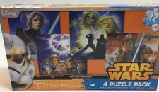 STAR WARS Anakin 12 pc. puzzles Ages 4+(four -12 piece puzzles in box)  6z