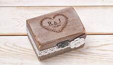 Ring Bearer Box Wedding Ring Box Ring Holder Wooden Box Rustic Weddings