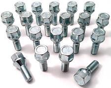 20 x alloy wheel bolts M12 x 1.25, 17mm Hex, 26mm thread, taper seat Alfa Romeo