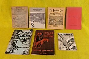 RARE LOT 7 Vintage STANLEY HAWBAKER CONNER ALAIN FRIEMAN INDIAN TRAPPING BOOKS