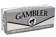 Gambler Silver Ultra Light King Size - 6 Boxes - 200 Tubes Box Cigarette Tobacco