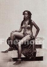 1925 Vintage Africa TIMBUKTU FEMALE NUDE ~ Tribal Woman Metal Jewelry Photo Art