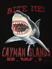 VINTAGE BITE ME CAYMAN ISLANDS T SHIRT LARGE