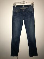 Ladies Seven For All Mankind Straight Leg Jeans Size 25 X 32