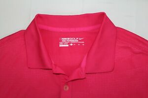 NIKE GOLF Tour Performance XL Hot Pink XL Dri-Fit Polo Shirt