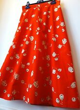 VINTAGE JUPE orange en coton doublée T36 comme NEUF superbe!