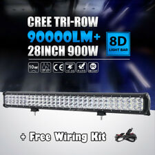 TRI-ROW CREE 28 INCH 900W LED WORK LIGHT BAR OFFROAD FIT FOR CHEVY GMC DODGE RAM