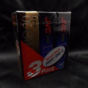 JVC PROHF EHG VHS-C Blank Tapes 3 pk New Sealed TC30EHG 90 Min EP