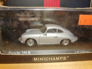 1961 Porsche 356 B Hardtop Coupe silver 1/43 Minichamps 400 06300 Limited