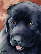 New ListingNewfoundland Painting Dog 8 x 10 Art Print Signed by Artist Djr