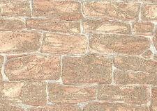 A.S.CREATION VINYL TEXTURED GLITTER STONE BRICK WALL FEATURE WALLPAPER 3438-26