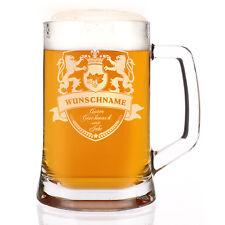 Löwenstarker Bierkrug mit Gravur des Namens und des Jahres