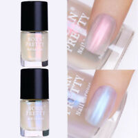 2Pcs Shell Glimmer Nail Polish Shiny Glitter Varnish Pink Blue Born Pretty 9ml