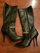 Ladies Womens Knee High Winter Long Boots SIZE 5