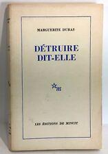 Marguerite Duras, détruire dit-elle 1969, N° 1222