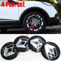 "4 Pcs 56mm 2.1"" Black Stickers Caps Trims Centre Hub Wheel Cap Emblems For All"