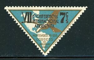 URUGUAY MH Selections: Scott #448 7c 7th Pan American Conference Triangle $$