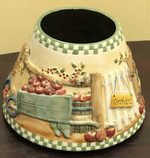 Yankee Candle Large Shade Topper Fall Flowers Harvest Apple Orchard