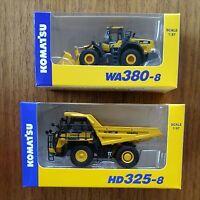 KOMATSU 1:87 HD325-8 WA380-8 EXCAVATOR dump truck 2 set japan Miniature New F/S