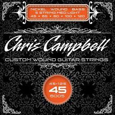 CHRIS CAMPBELL CUSTOM NICKEL WOUND 5-STRING BASS STRINGS #6005 MED-LIGHT GAUGE