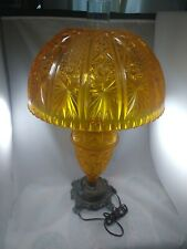Vintage Accurate Castings Orange Lamp, Hurricane Glass - Plastic base and shade