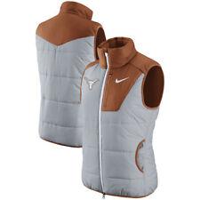 Nike Golf Women Gray UT Texas Longhorns Orange Champ Drive Zipper Vest 2XL XXL