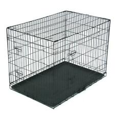 """New listing 42"""" Pet Kennel Cat Dog Folding Steel Crate Animal Playpen Wire Metal"""
