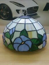 Art deco Tiffany style lamp shade 25cm glass/shell