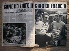 COME HO VINTO IL GIRO DI FRANCIA DI FELICE GIMONDI TOUR DE FRANCE 1965 TEMPO