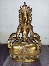 Asie - Amithaba laiton doré - Tibet/ Nepal - fin du XXe