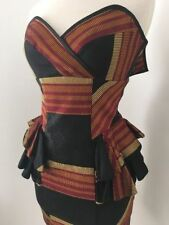 Cue Cotton Blend Peplum Dresses for Women