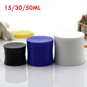 1-20PCS Empty Plastic Cosmetic Face Cream Lip Balm Sample Container Jar Pot