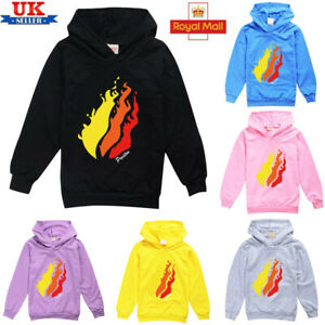 Kids Prestonplayz Boys Girls Hoodie Long Sleeve Sweatshirt Jumper Pullover Tops