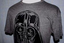 STAR WARS Darth Vader Helmet T Shirt Dark Gray Soft Felt Flocked Image Size M