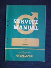 "VOLVO "" P 120 "" 1963 Original Factory SERVICE MANUAL  > Brakes <  RARE"