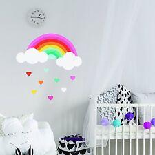 Rainbow Cuori Rosa per Ragazze Camera da Letto Adesivo Parete Bambino Vivaio Vinile Trasferimento Murale