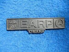 Vintage Original Dealer Name Plate EARP DODGE MERCEDES OMAHA NEBRASKA