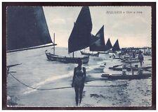 Cartolina Bellaria Vele a Riva Rimini Animata Barche HH251