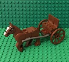 Lego New MOC Reddish Brown Passenger Horse Drawn Carriage,Roman Battle Chariot