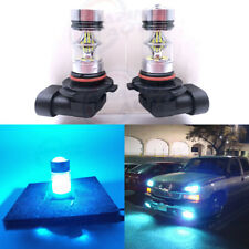 NEW 2x H10 9145 9005 8000K Ice Blue 100W Cree LED Headlight Bulbs Kit Fog Light